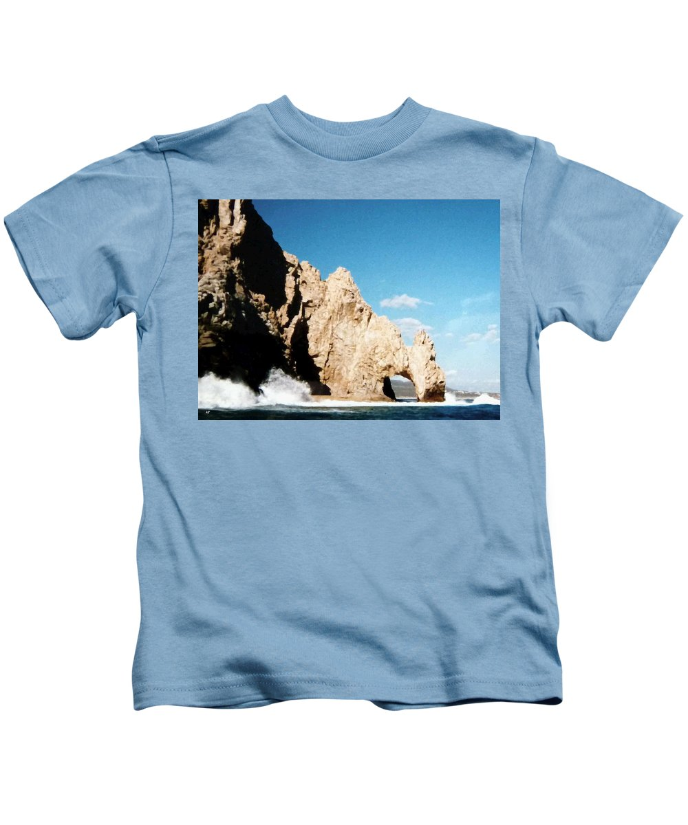 Mexico Kids T-Shirt featuring the photograph Cabo San Lucas Arch by Will Borden