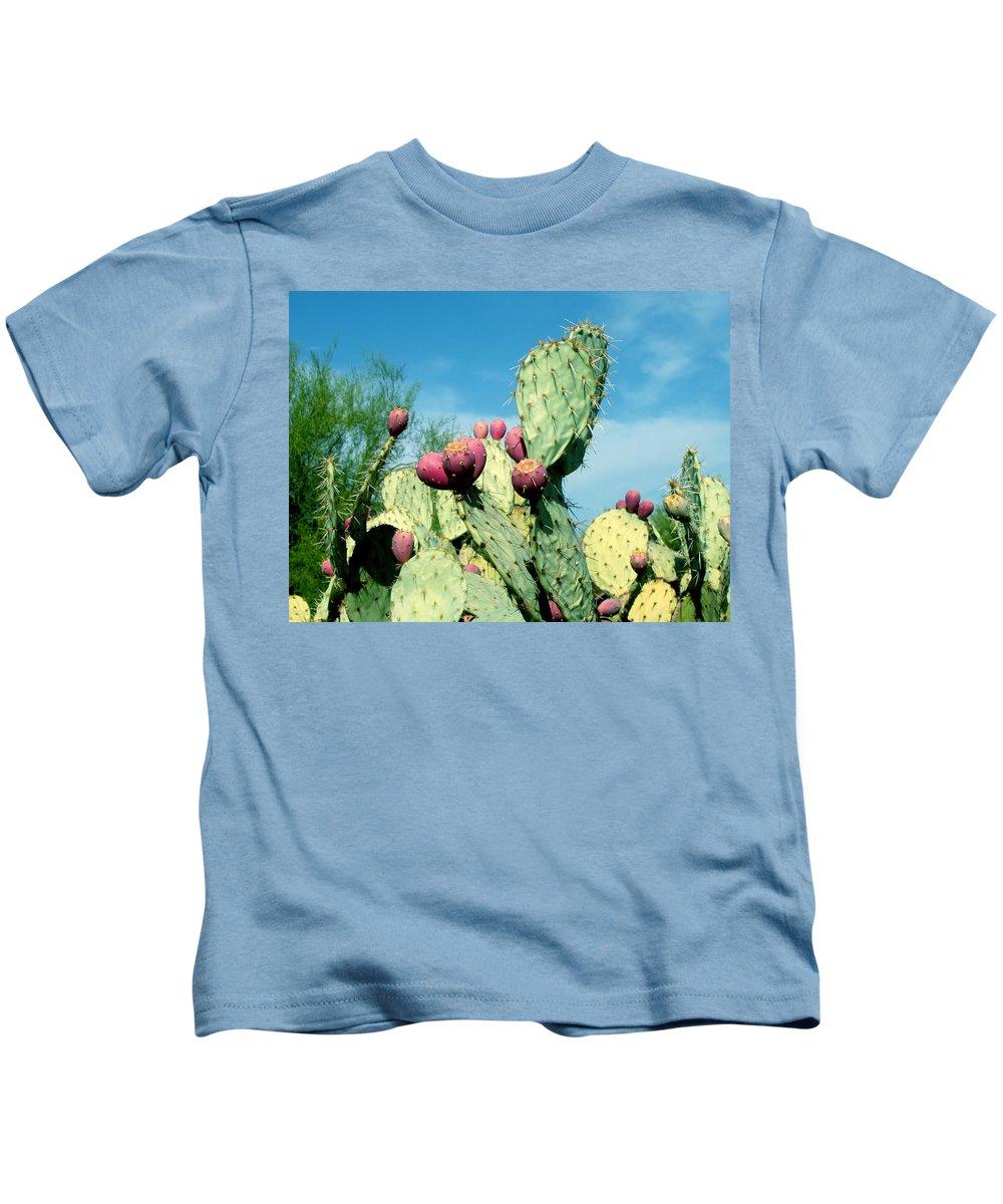 Cactus Kids T-Shirt featuring the photograph Cactus by Wayne Potrafka