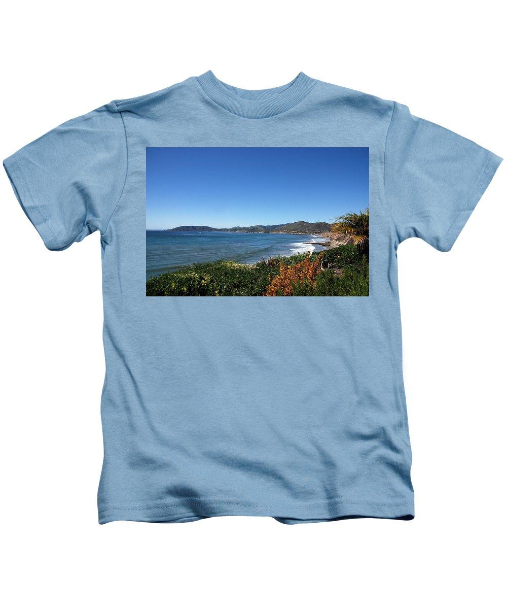Landscape Kids T-Shirt featuring the photograph California Coast Line - Pismo Beach by Susanne Van Hulst