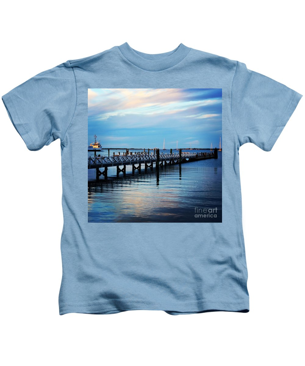 New England Kids T-Shirt featuring the photograph Cape Cod Blue by DAC Photography