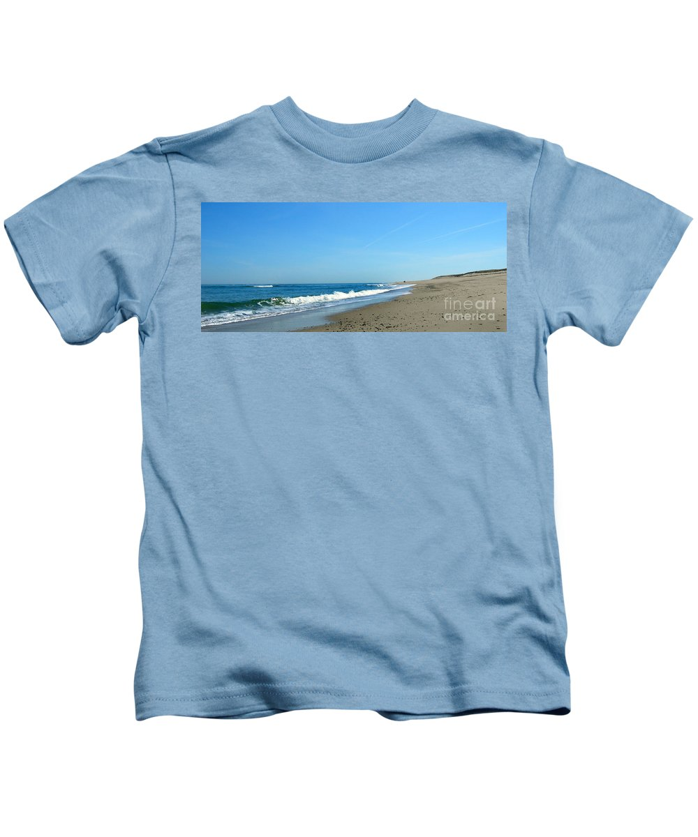 Scenic Tours Kids T-Shirt featuring the photograph Cape Isolation by Skip Willits
