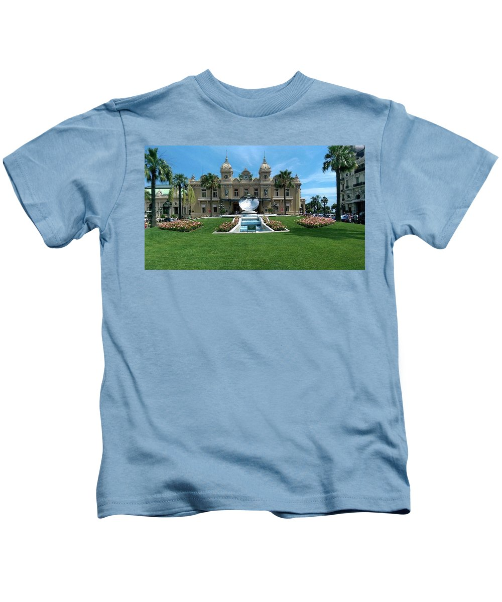 Casino Kids T-Shirt featuring the photograph Casino Of Monaco by Lucas Van Es