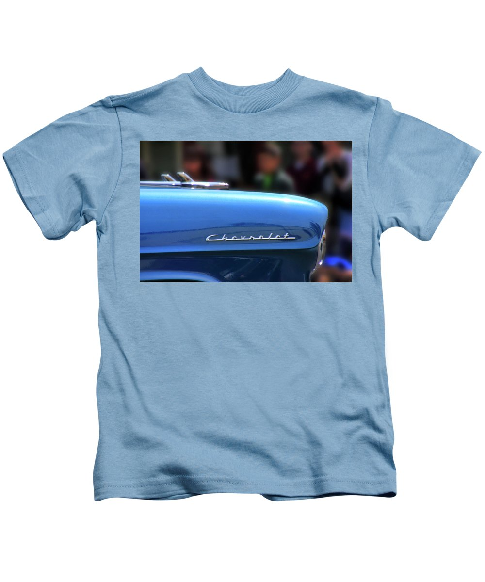Chevy Kids T-Shirt featuring the photograph Chevy Blues by Pauline Darrow