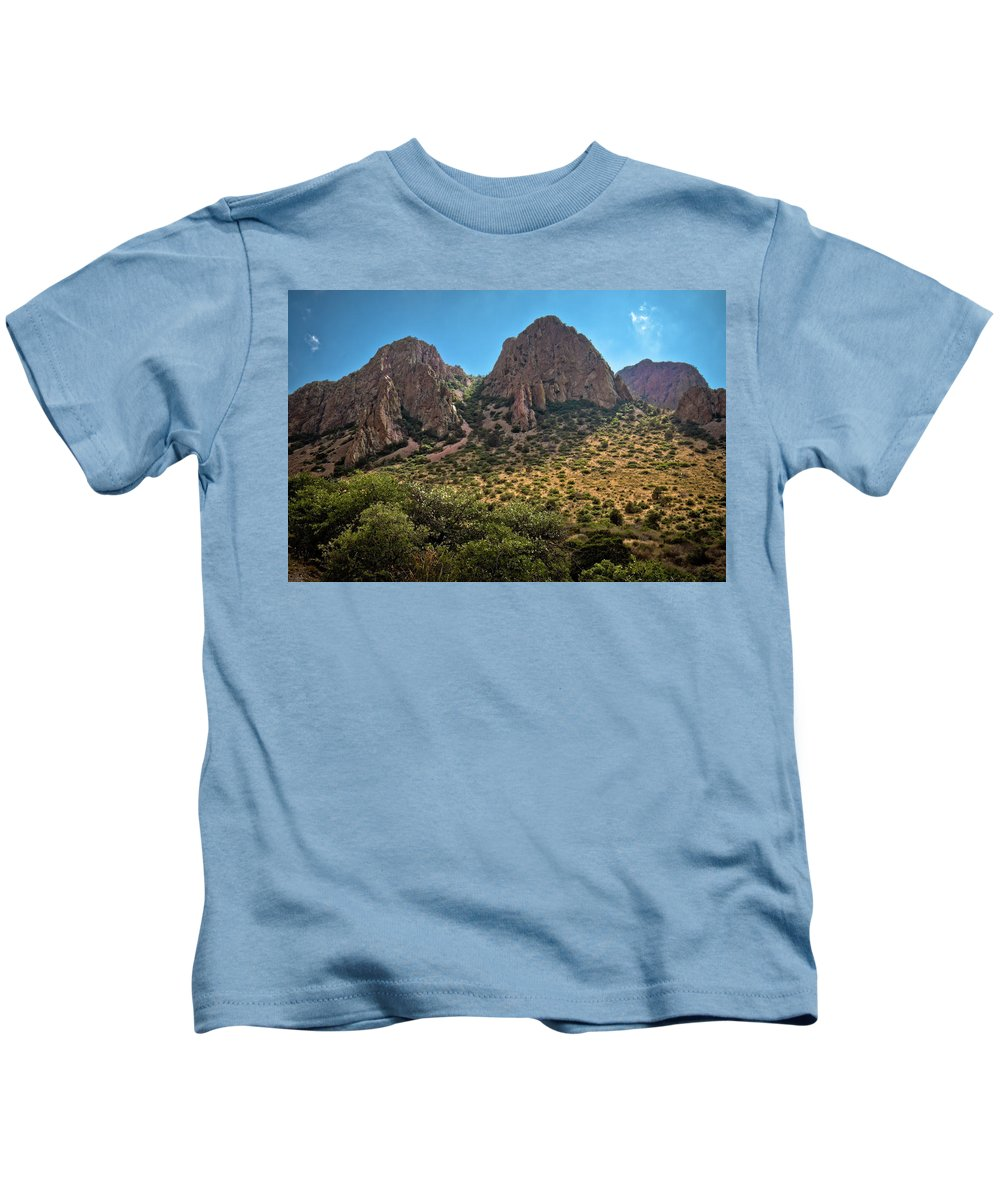 The Window Kids T-Shirt featuring the photograph Chisos Mountain Range by Linda Unger