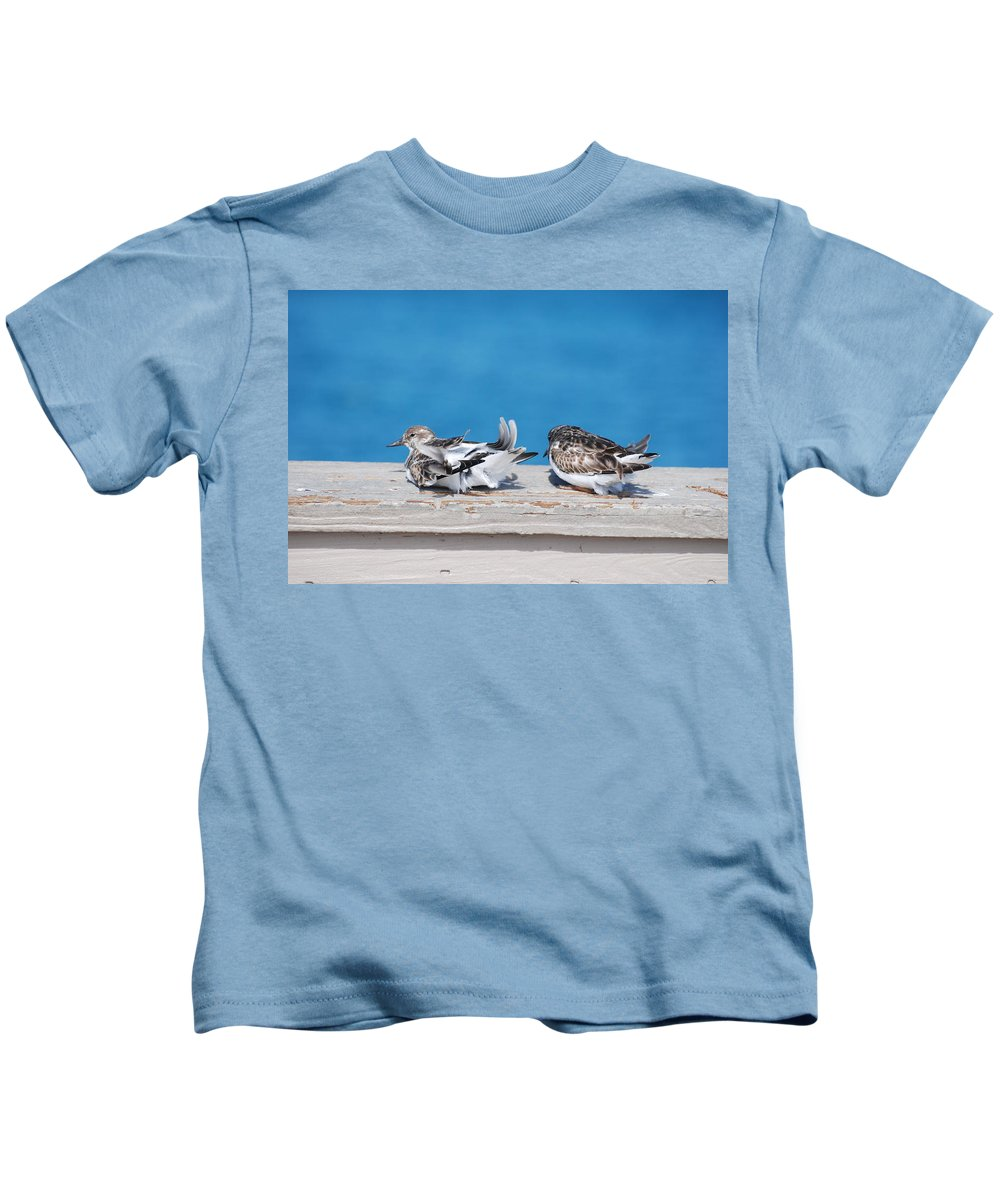 Bird Kids T-Shirt featuring the photograph Cold Birds by Rob Hans