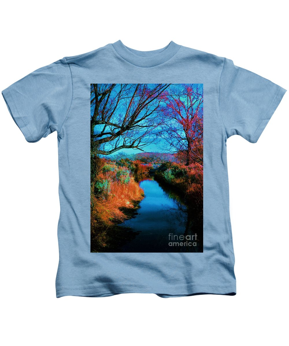 Color Kids T-Shirt featuring the photograph Color Along The River by Diana Dearen