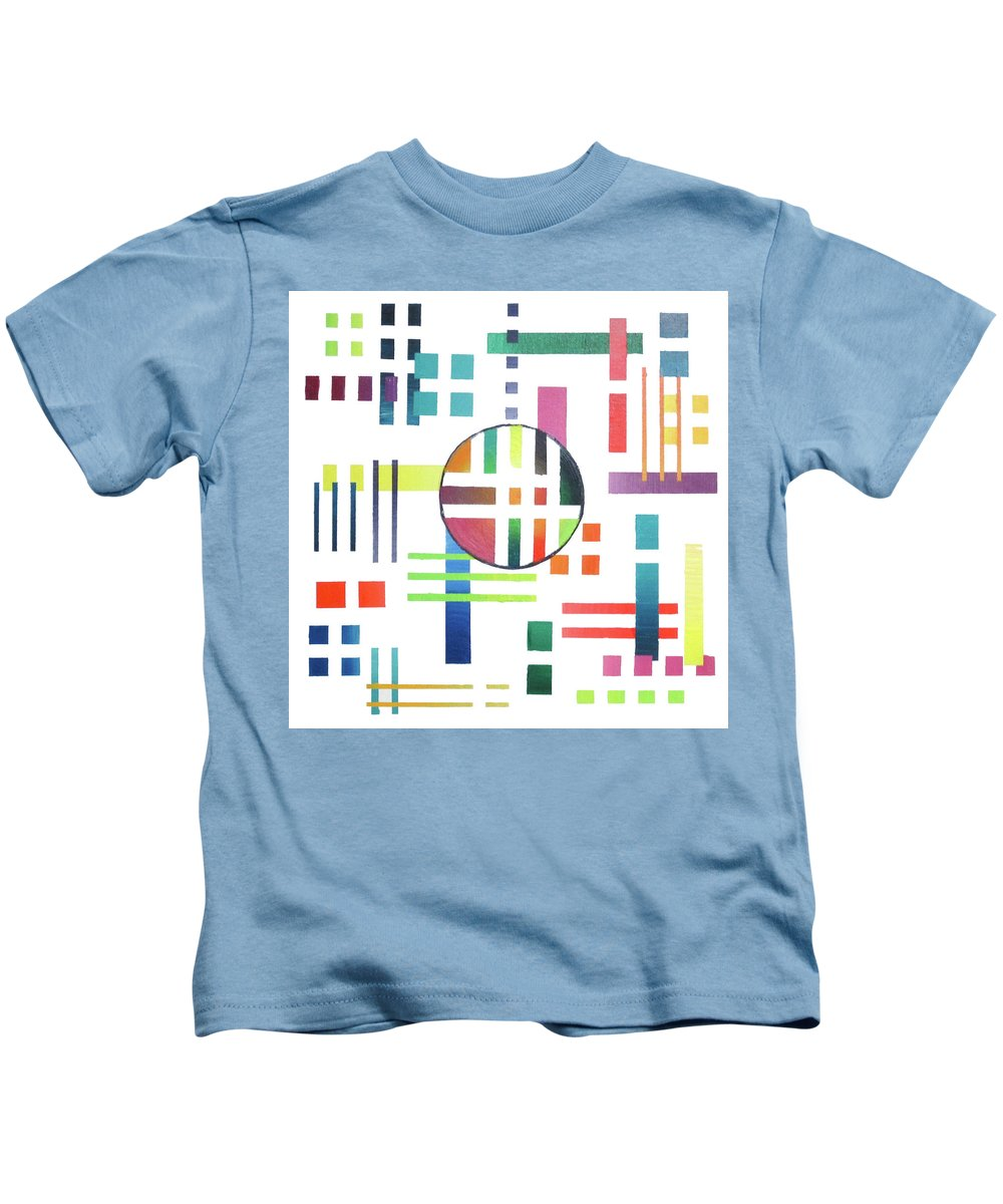 Color Kids T-Shirt featuring the painting Color And Form by Jeremy Aiyadurai