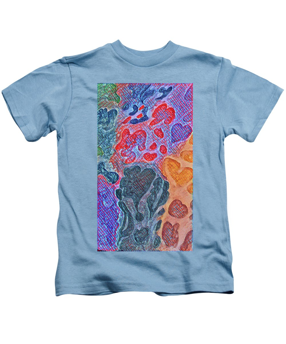 Color Kids T-Shirt featuring the painting Comingoutshadows2 by Pat Cleveland