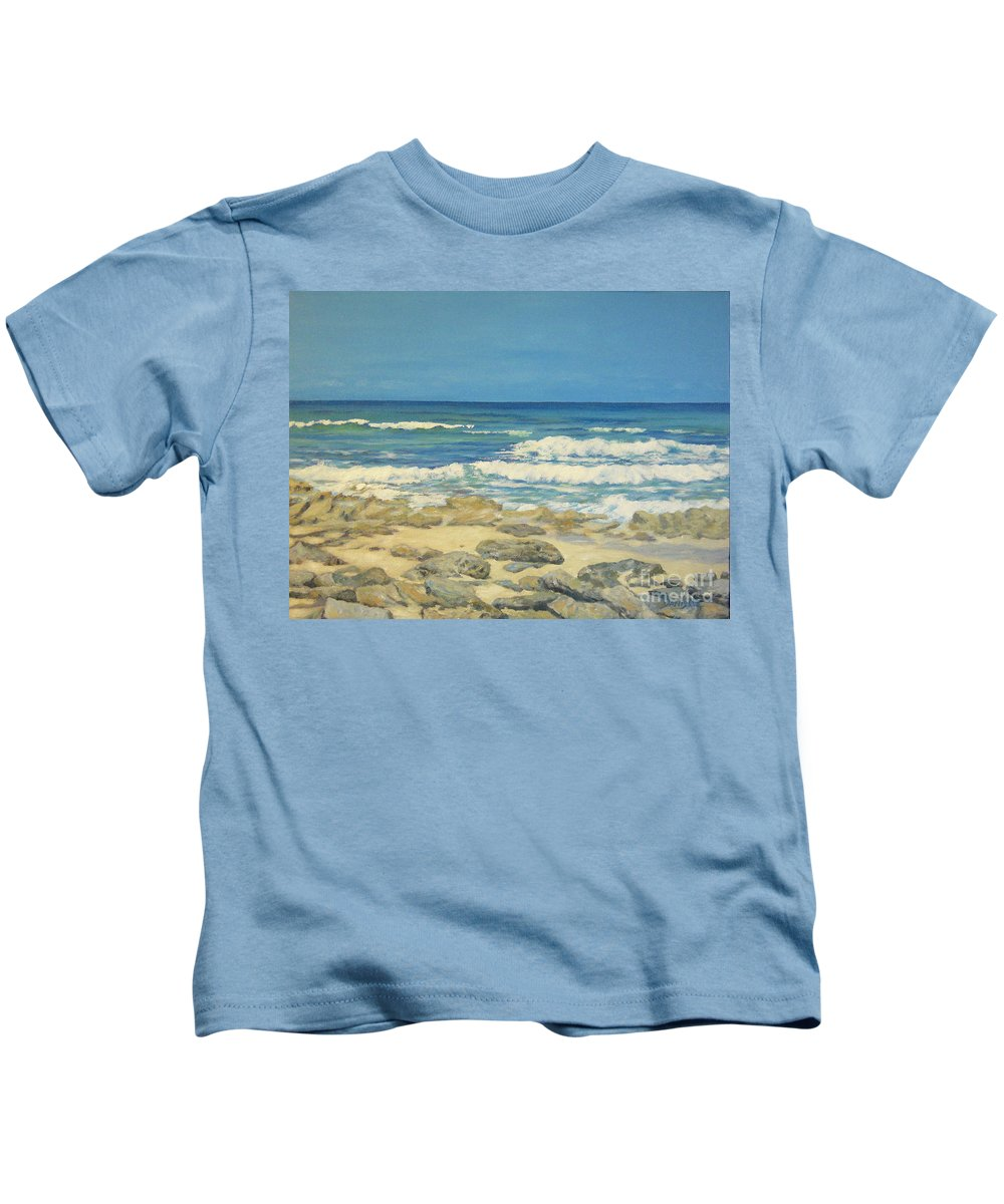 Compass Cay Kids T-Shirt featuring the painting Compass Cay by Danielle Perry