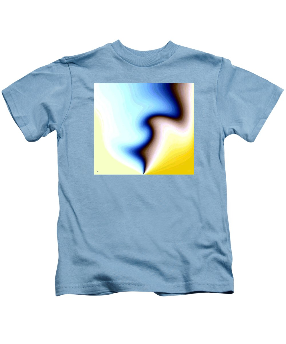 #faceprofileabstract Kids T-Shirt featuring the digital art Conceptual 7 by Will Borden