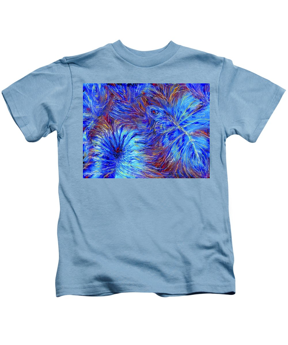 Blue Kids T-Shirt featuring the photograph Cool Blue by Ian MacDonald