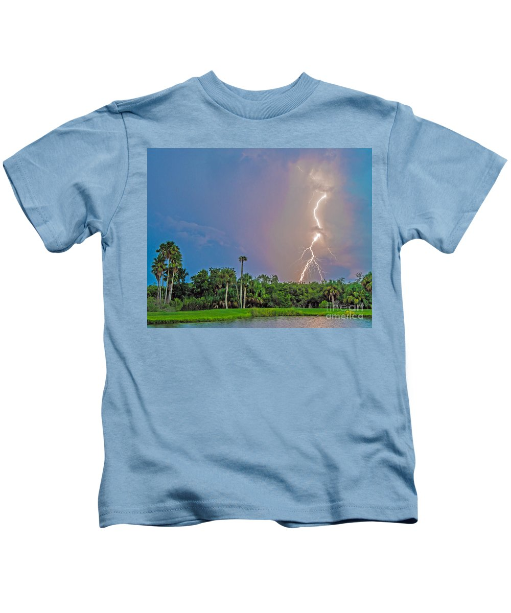 Cooper's Bayou Kids T-Shirt featuring the photograph Cooper's Bayou by Stephen Whalen