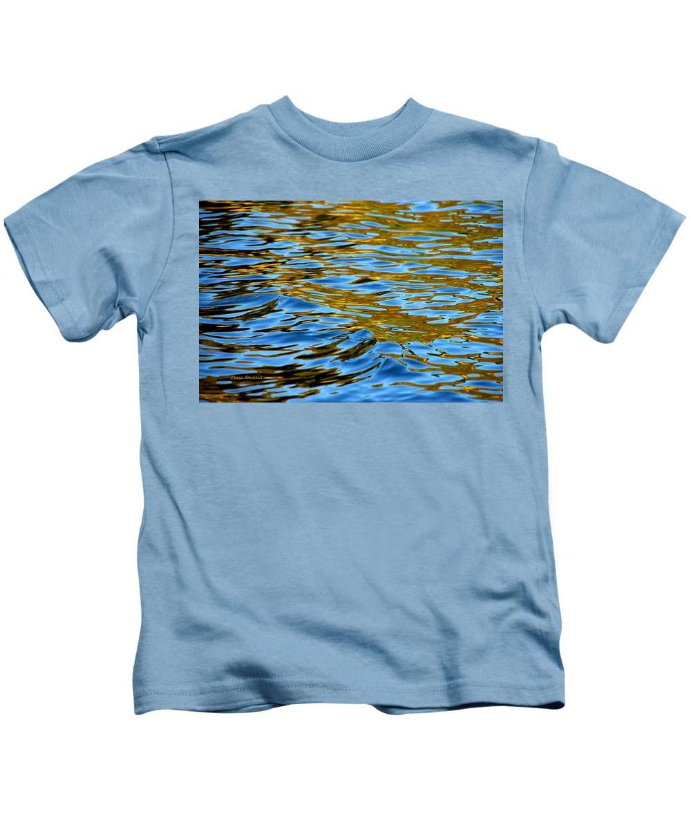 Water Kids T-Shirt featuring the photograph Copper Melody by Donna Blackhall