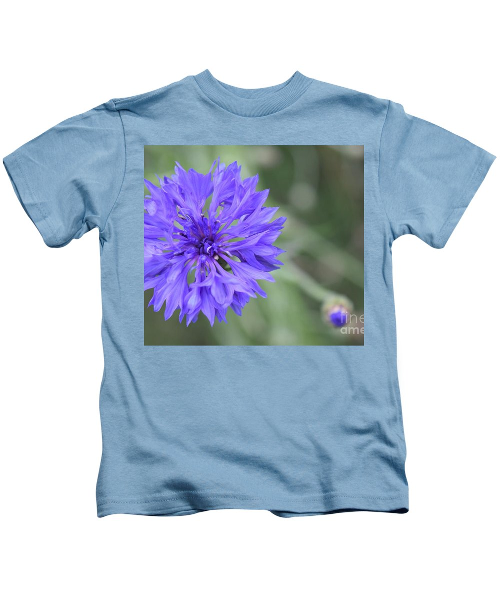 Flower Kids T-Shirt featuring the photograph Cornflower by Deb Arndt