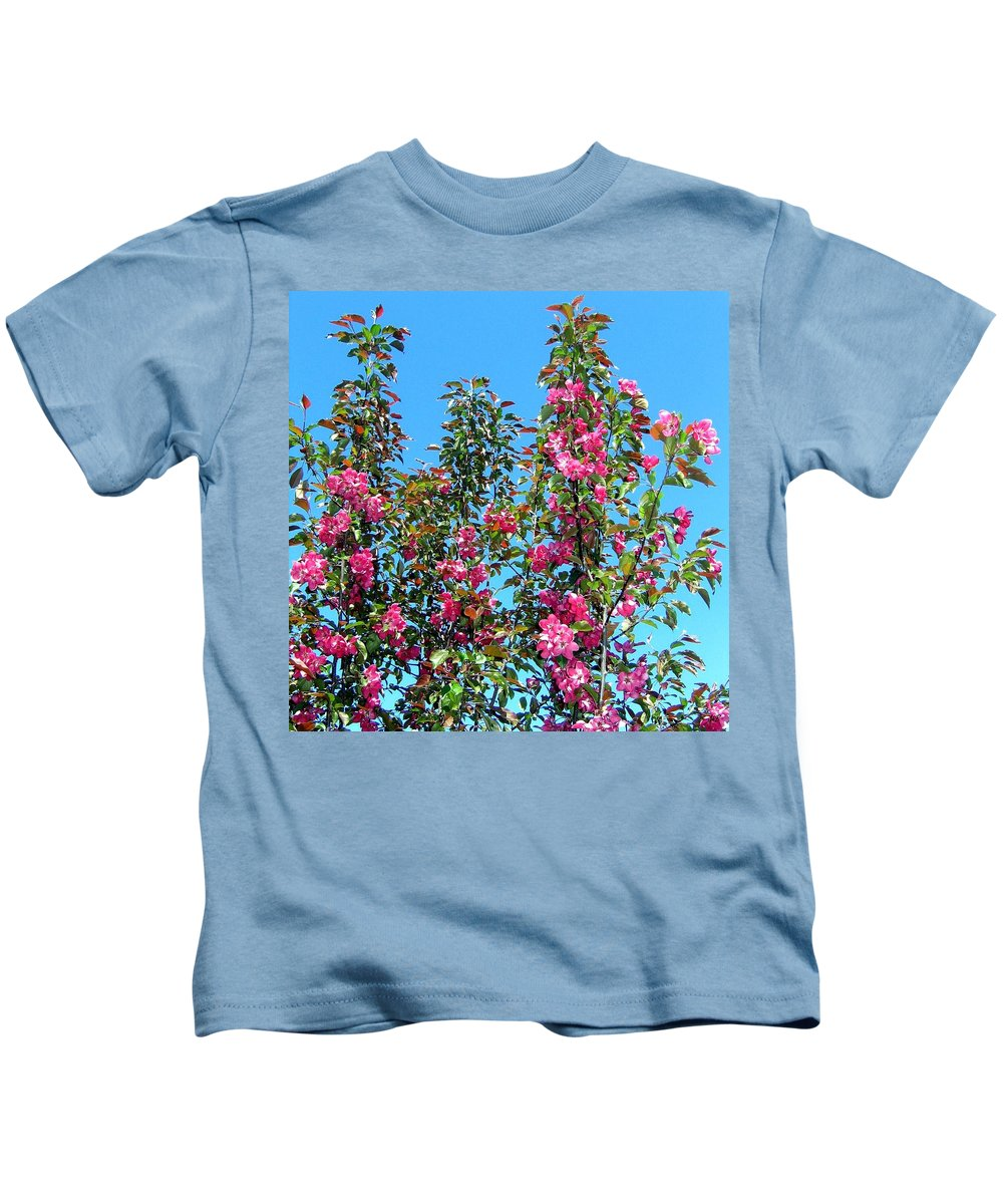 Crab Apple Blossoms Kids T-Shirt featuring the photograph Crab Apple Blossoms by Will Borden