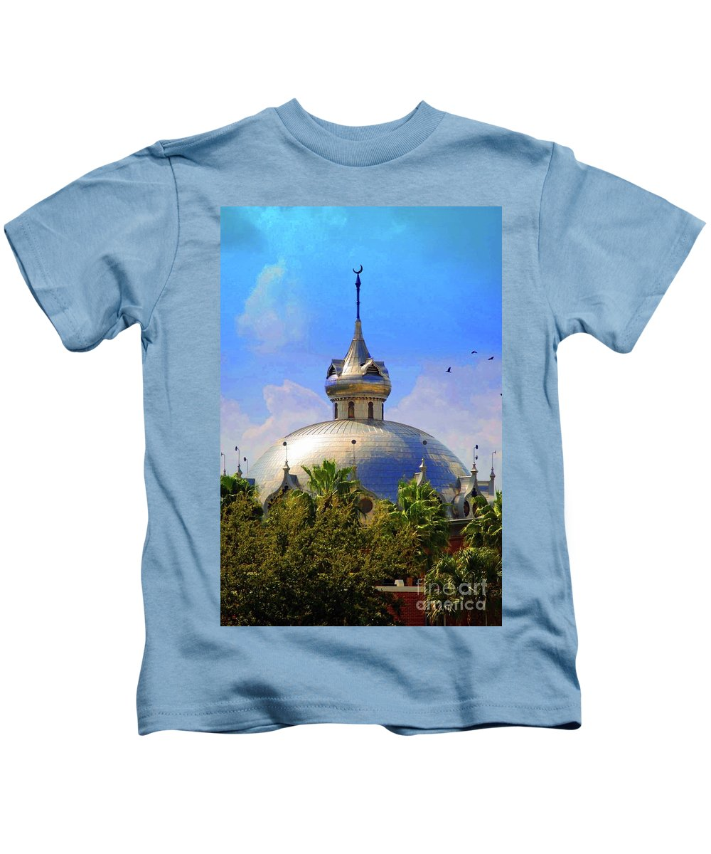 University Of Tampa Kids T-Shirt featuring the photograph Crescent Of The Dome by Jost Houk
