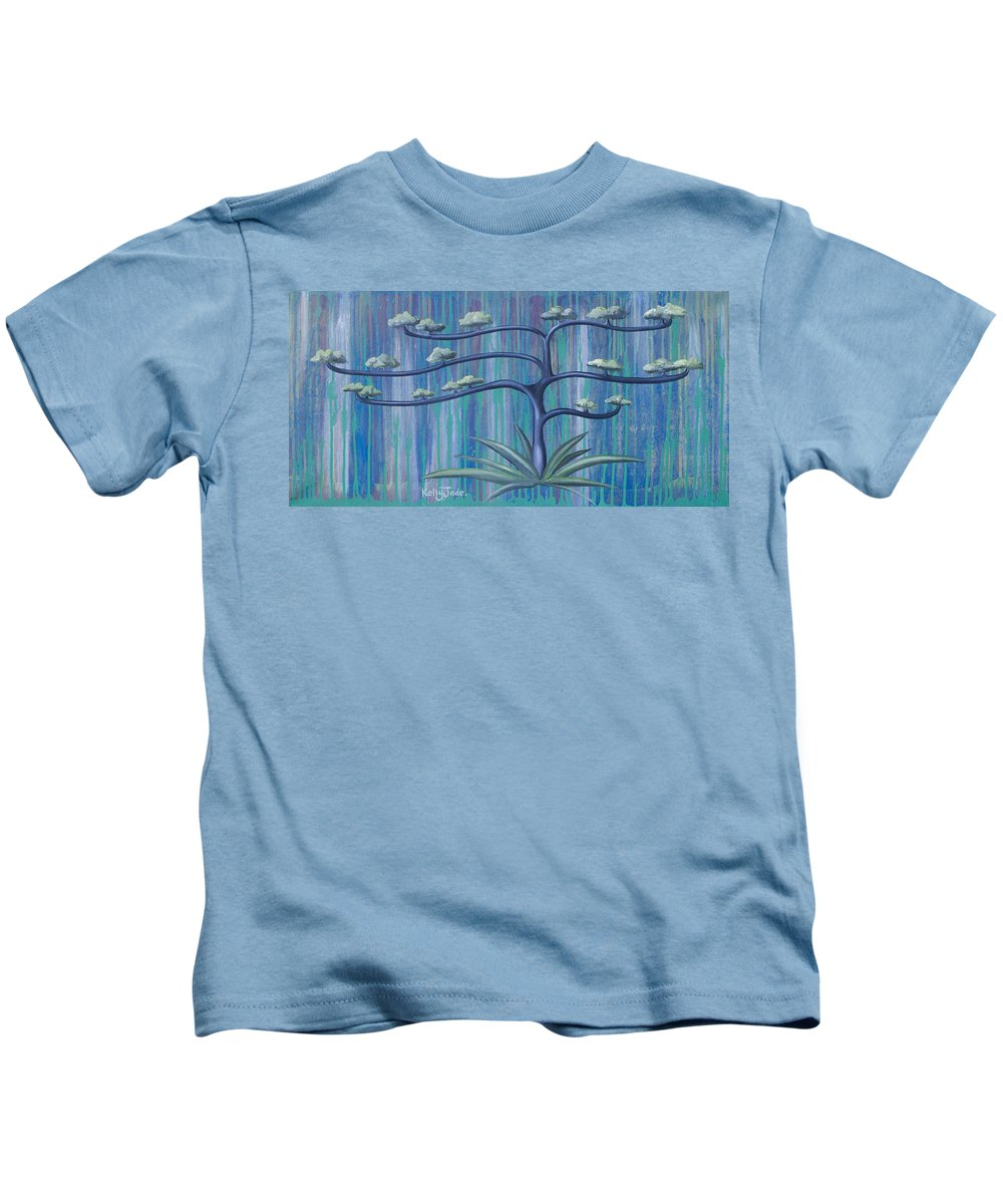 Tree Kids T-Shirt featuring the painting Cross Tree by Kelly Jade King