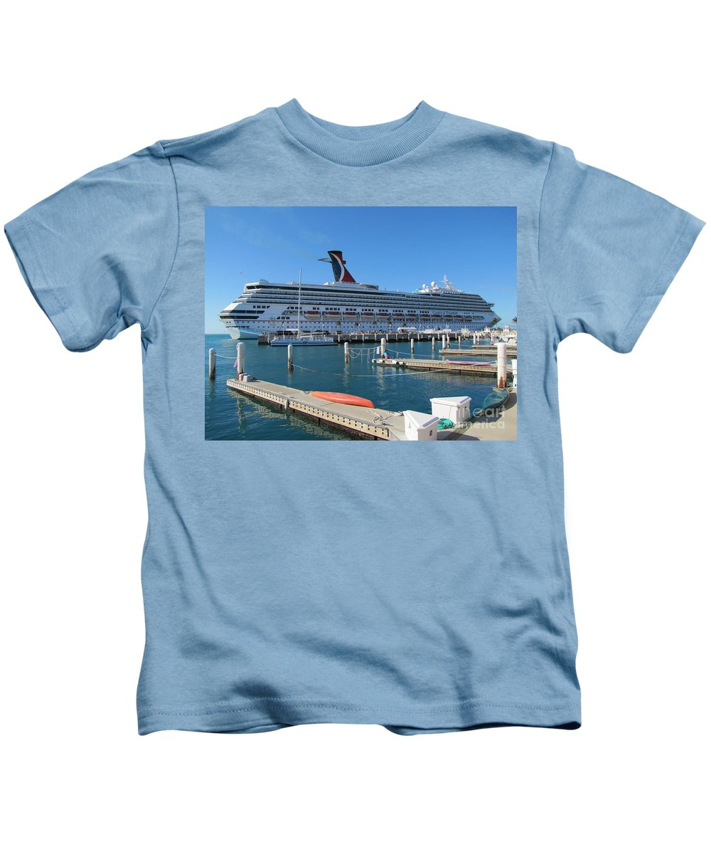 Ship Kids T-Shirt featuring the photograph Cruise Ship by Michelle Powell
