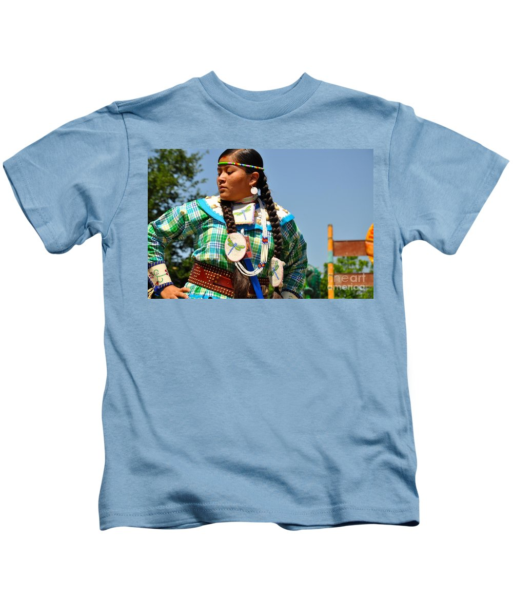 Native American Kids T-Shirt featuring the photograph Dancing Dragonfly by Christina McKinney