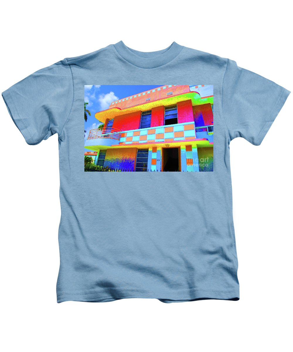 Hotel Kids T-Shirt featuring the photograph Deco Apt by Jost Houk
