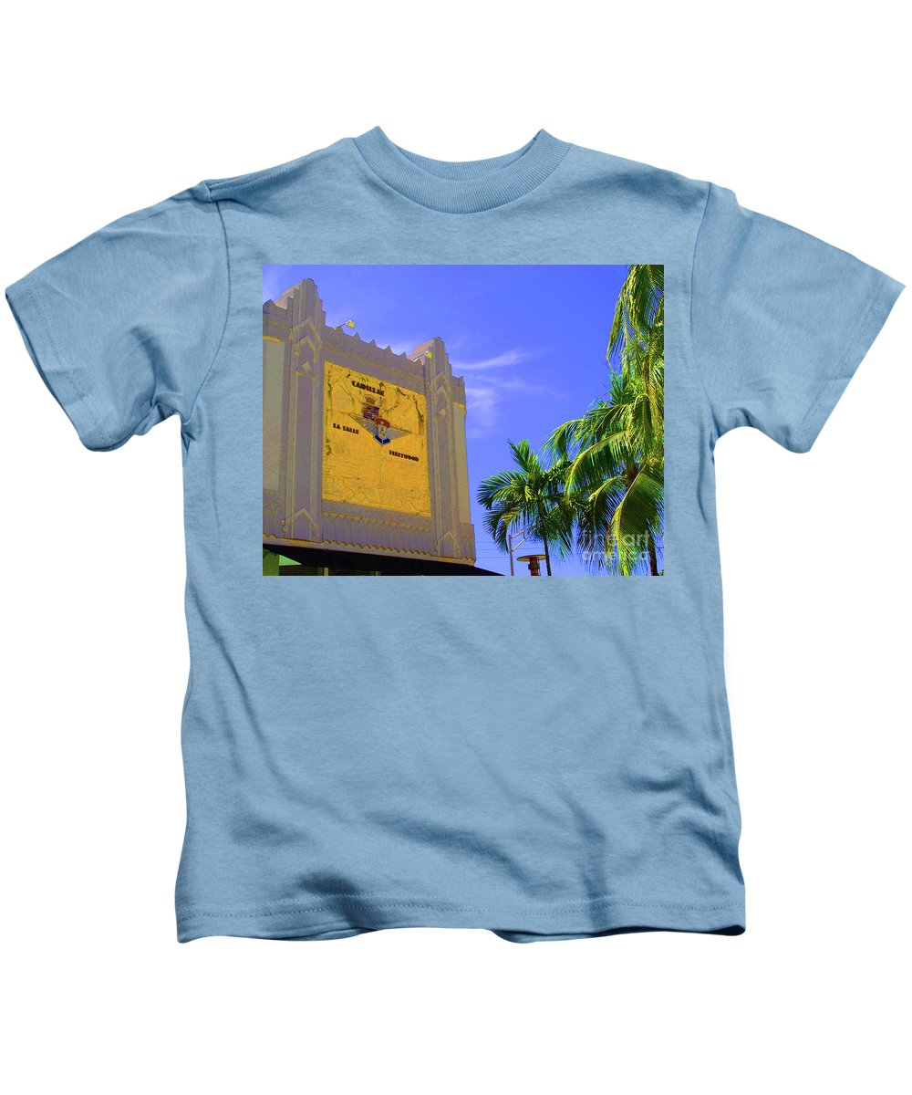 Cadillac Kids T-Shirt featuring the photograph Deco Cadillac by Jost Houk