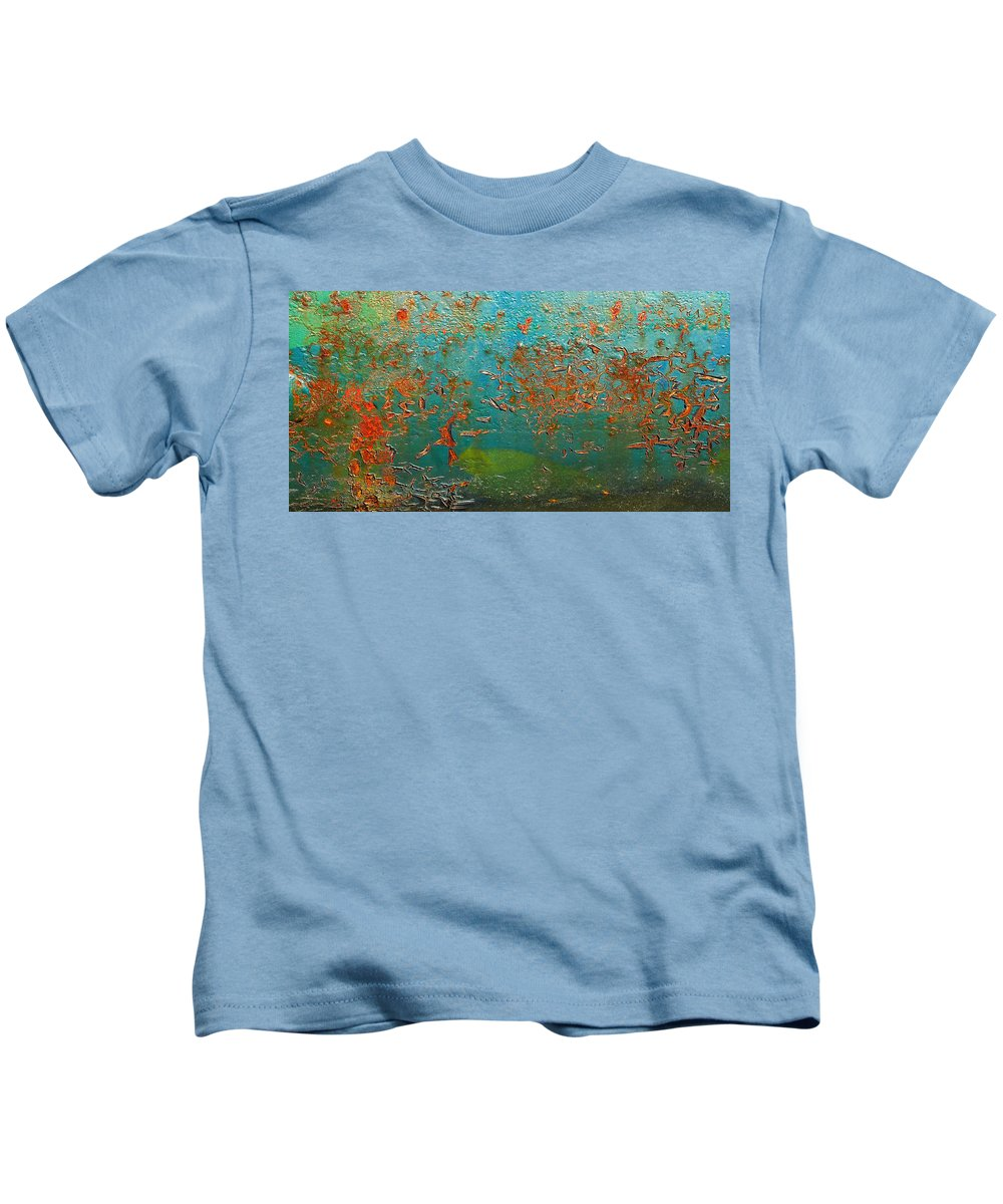 Abstract Landscape Kids T-Shirt featuring the photograph Deep Sea by Rainer Stark