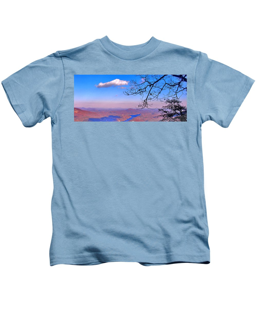Landscape Kids T-Shirt featuring the photograph Detail From Reaching For A Cloud by Steve Karol