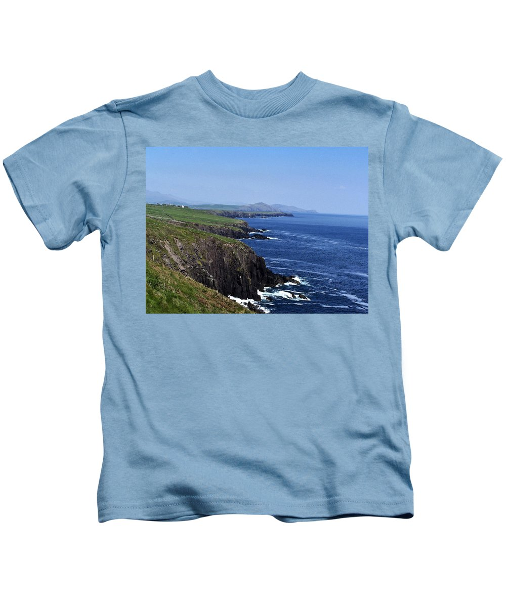 Irish Kids T-Shirt featuring the photograph Dingle Coast Near Fahan Ireland by Teresa Mucha
