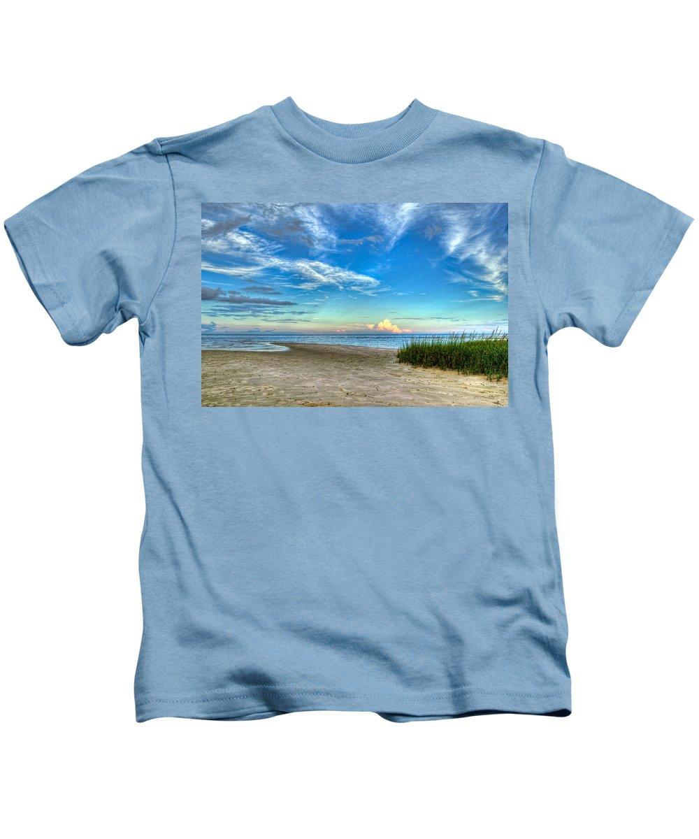 Beach Kids T-Shirt featuring the photograph Distant Thunderhead by Rich Leighton