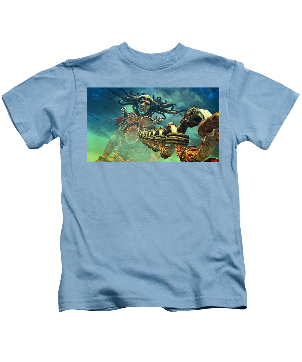 Dmc Devil May Cry Kids T-Shirt featuring the digital art Dmc Devil May Cry by Dorothy Binder