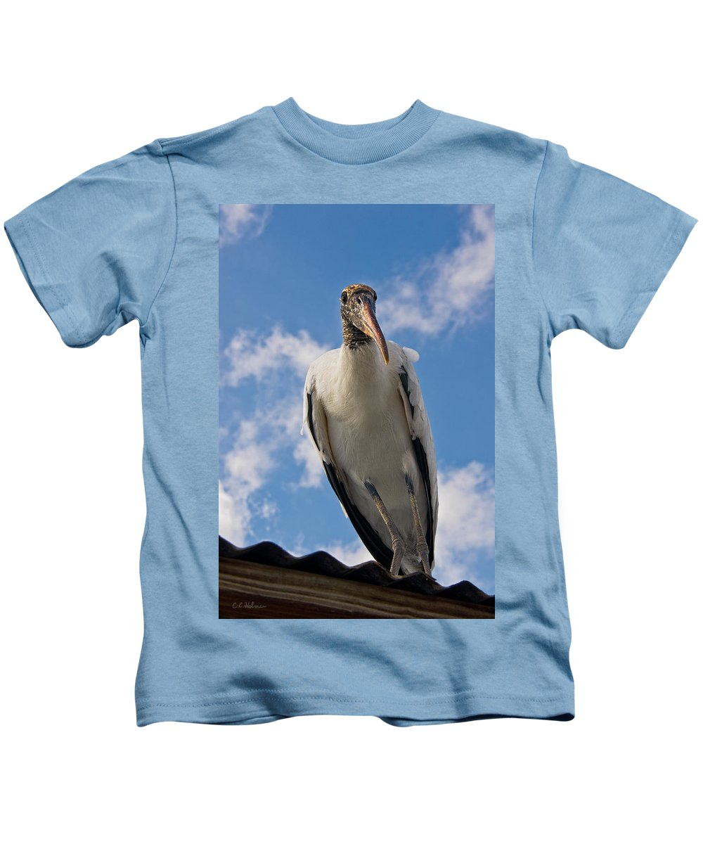Stork Kids T-Shirt featuring the photograph Do I Know You by Christopher Holmes