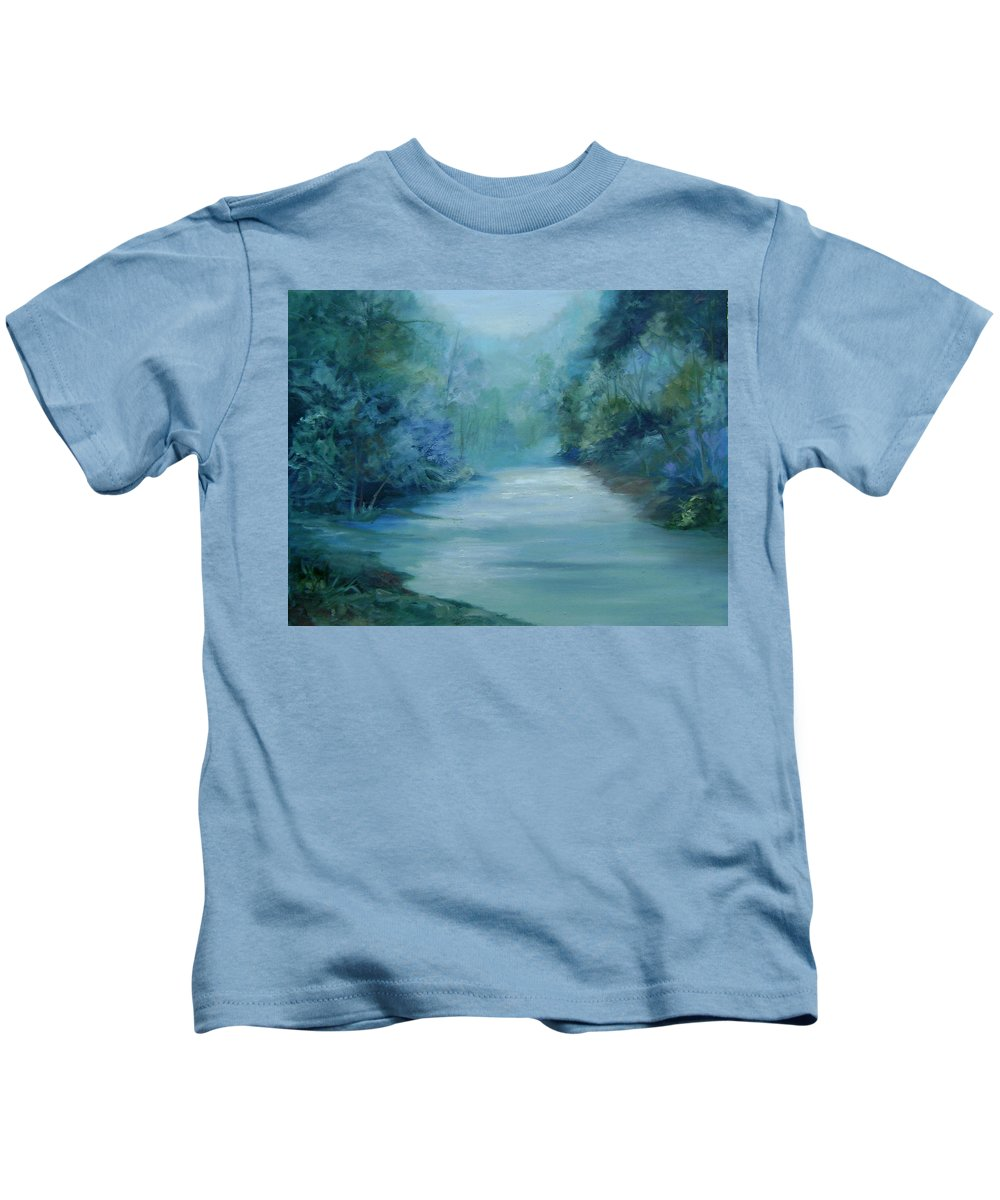 Burton River Georgia Kids T-Shirt featuring the painting Dreamsome by Ginger Concepcion