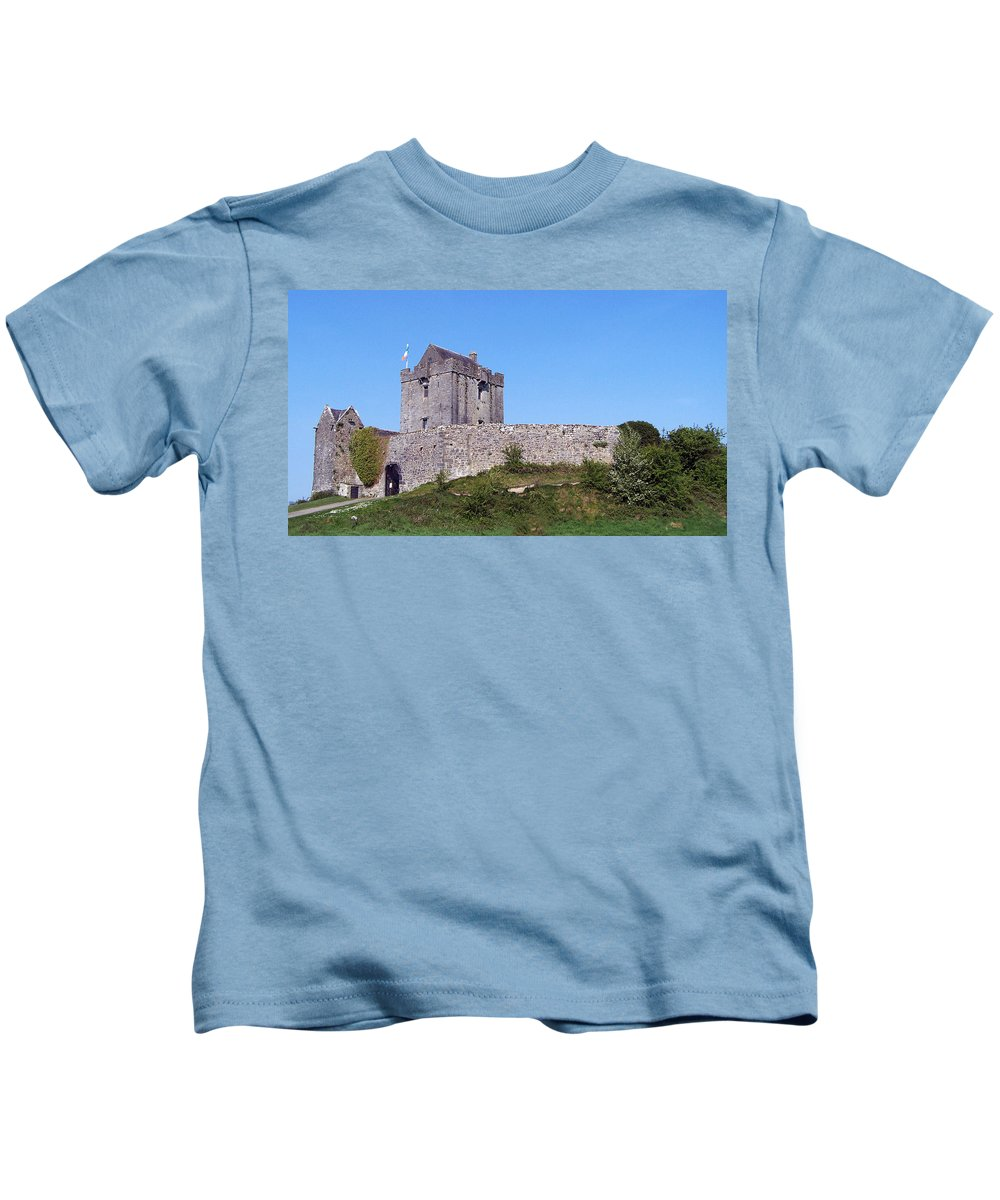 Irish Kids T-Shirt featuring the photograph Dunguaire Castle Kinvara Ireland by Teresa Mucha