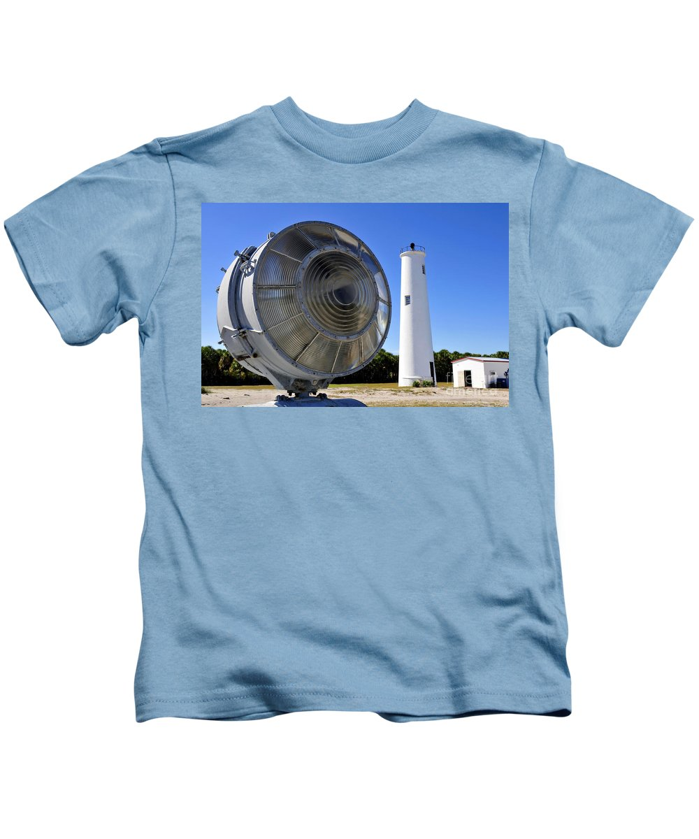 Fine Art Photography Kids T-Shirt featuring the photograph Egmont Key Lighthouse 1858 by David Lee Thompson
