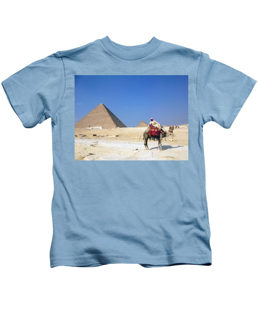 Egypt Kids T-Shirt featuring the photograph Egypt - Pyramid by Munir Alawi
