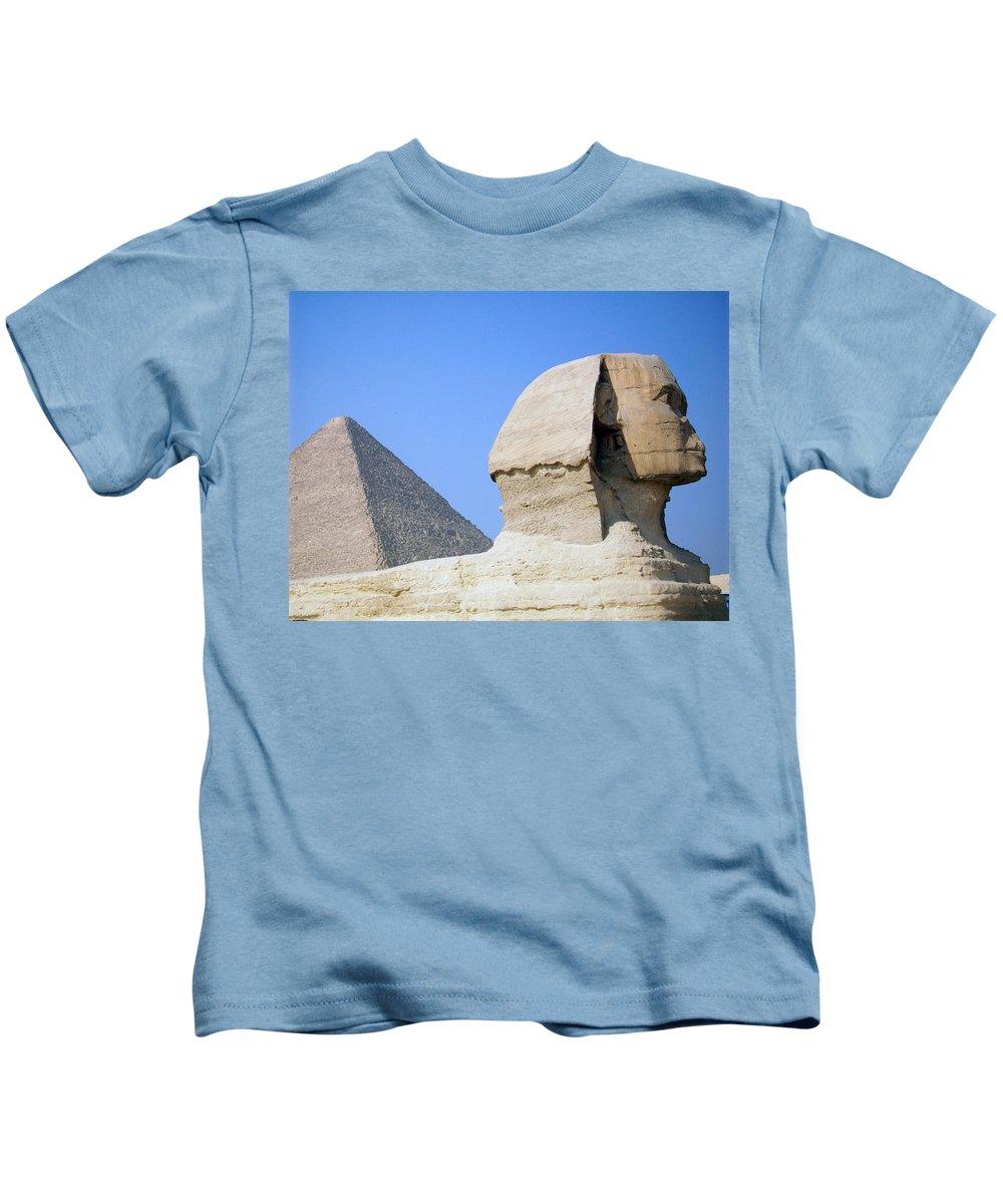 Egypt Kids T-Shirt featuring the photograph Egypt - Pyramids Abu Alhaul by Munir Alawi