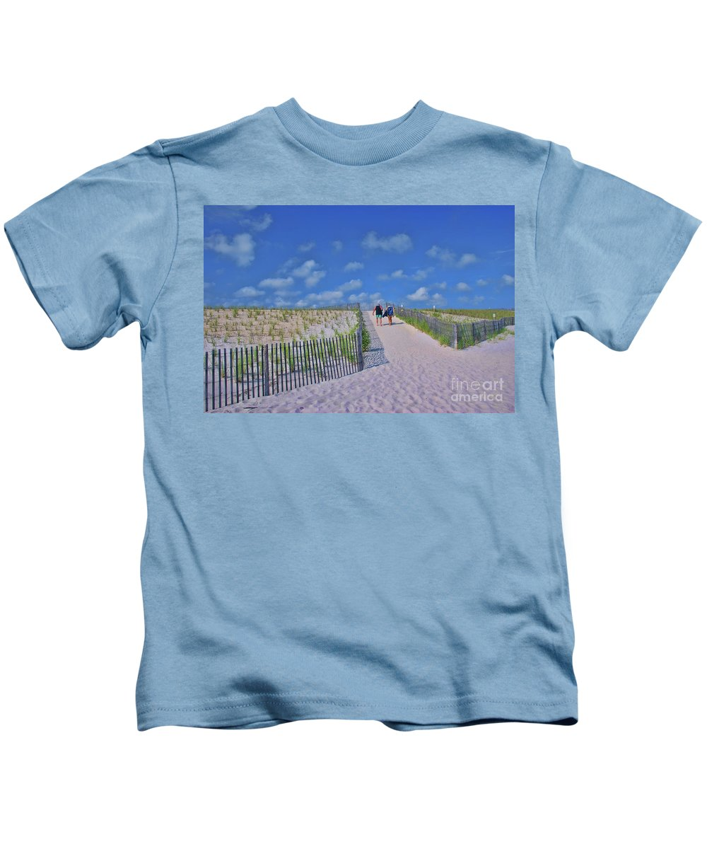 End Of Day Kids T-Shirt featuring the photograph End Of Day by Allen Beatty