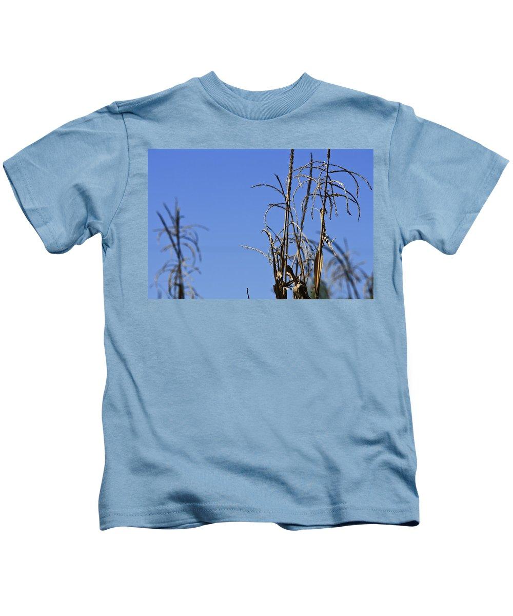 Corn Kids T-Shirt featuring the photograph End Of Season by Teresa Mucha