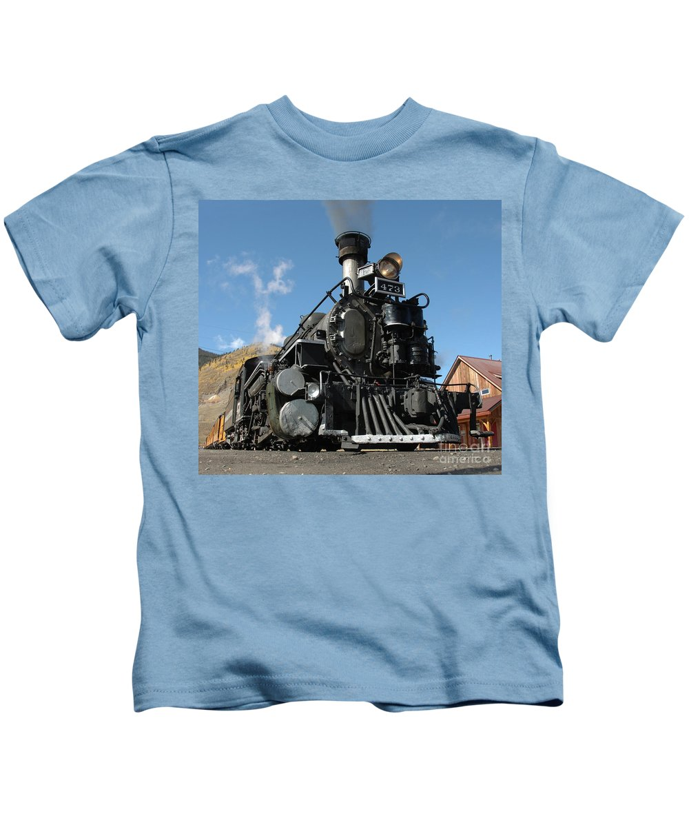 Train Kids T-Shirt featuring the photograph Engine Number 473 by Jerry McElroy