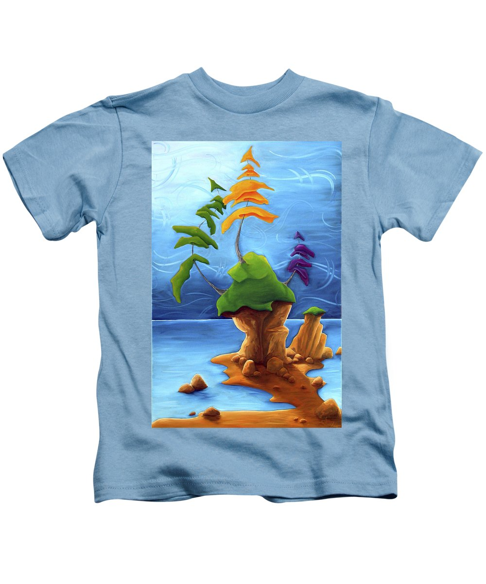 Landscape Kids T-Shirt featuring the painting Enraptured by Richard Hoedl