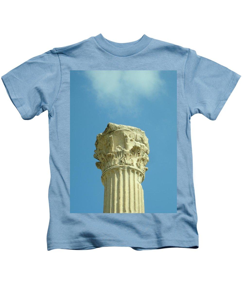 Column Kids T-Shirt featuring the photograph Ephesian Column by Jennifer Kelly