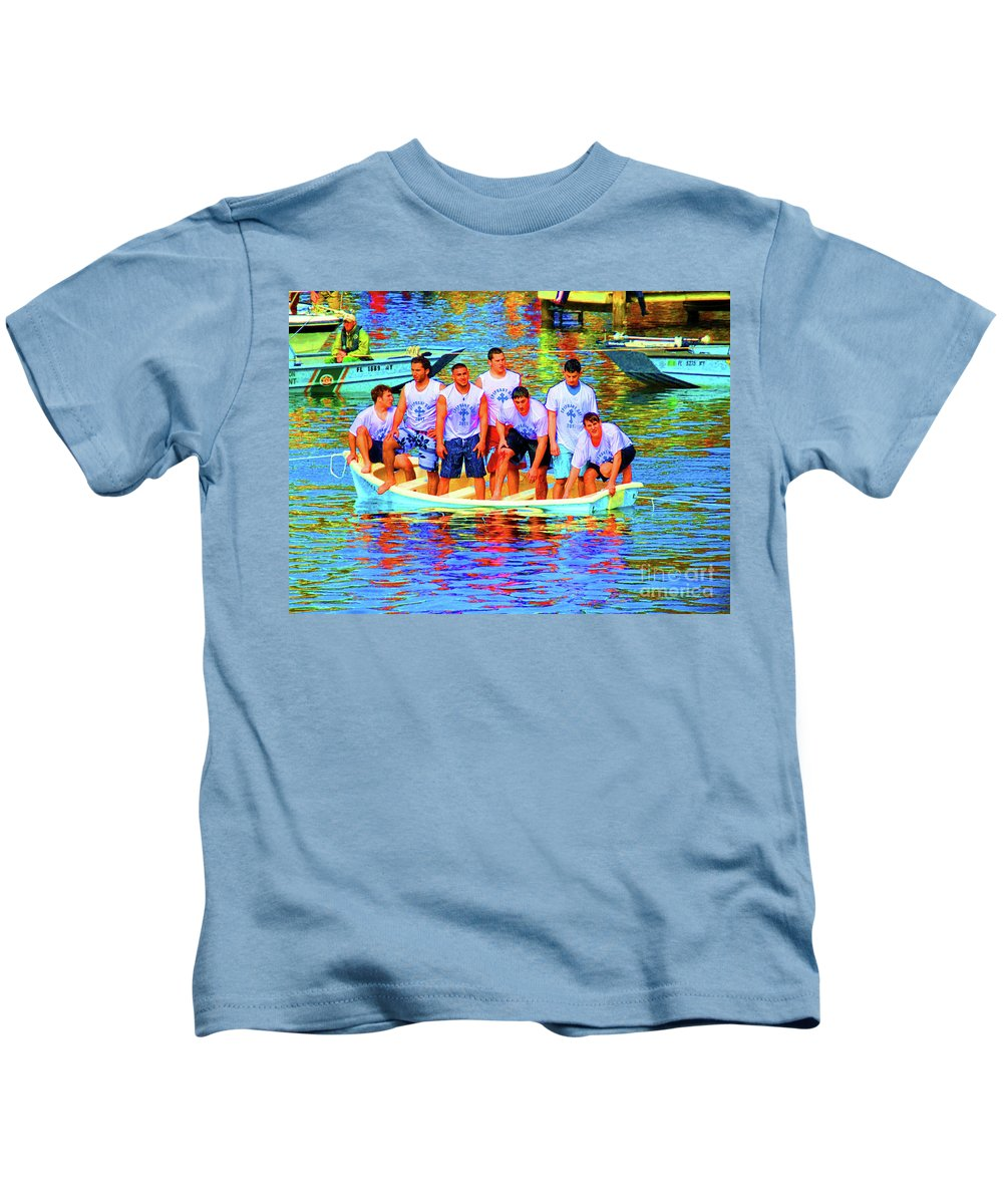 Epiphany Kids T-Shirt featuring the photograph Epiphany Boys by Jost Houk