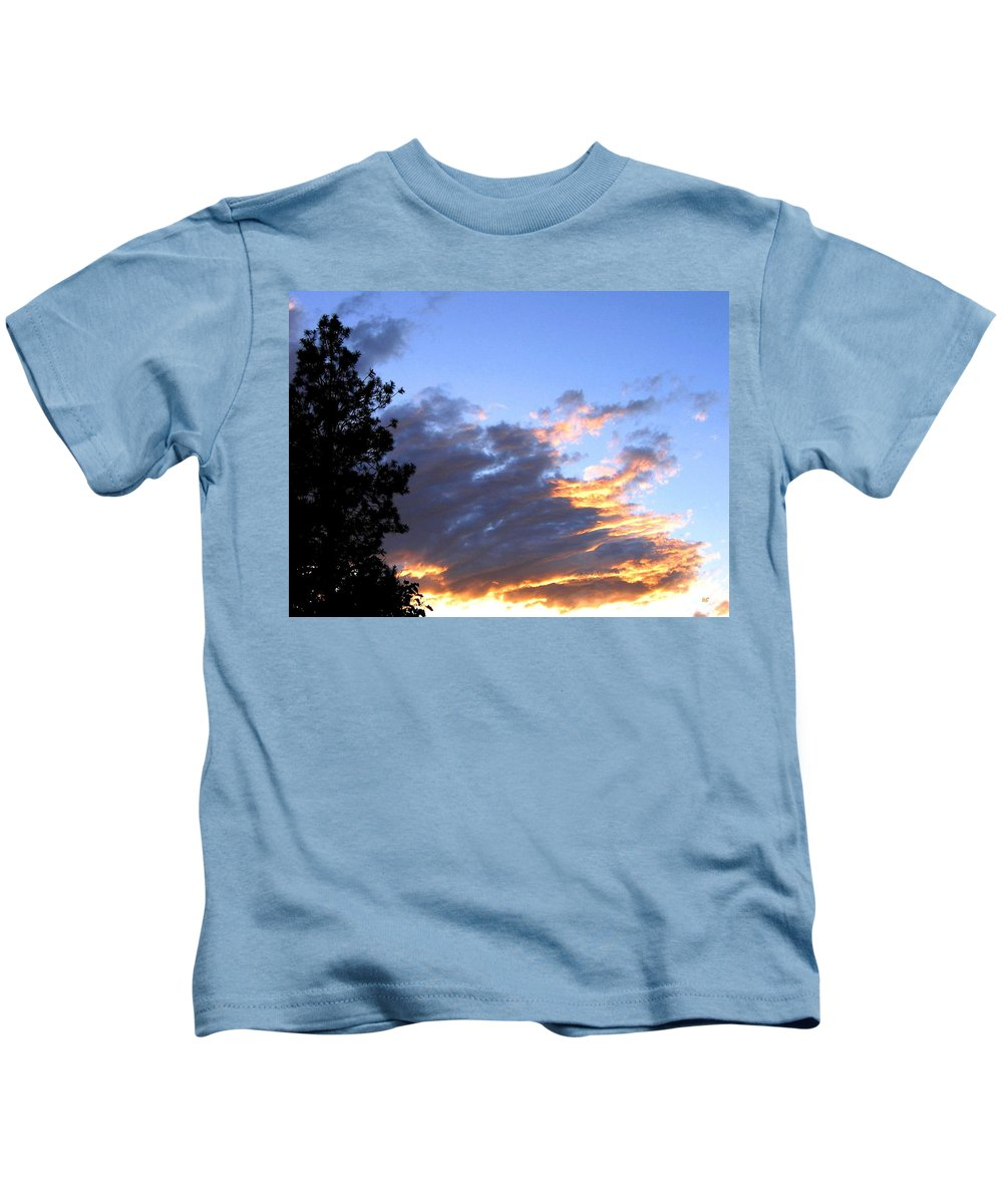 Sunset Kids T-Shirt featuring the photograph Evening Color by Will Borden