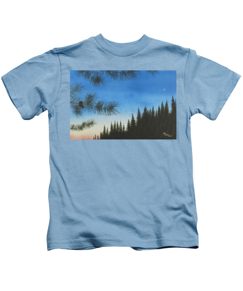 Acrylic Kids T-Shirt featuring the painting Evening by Martin Bellmann