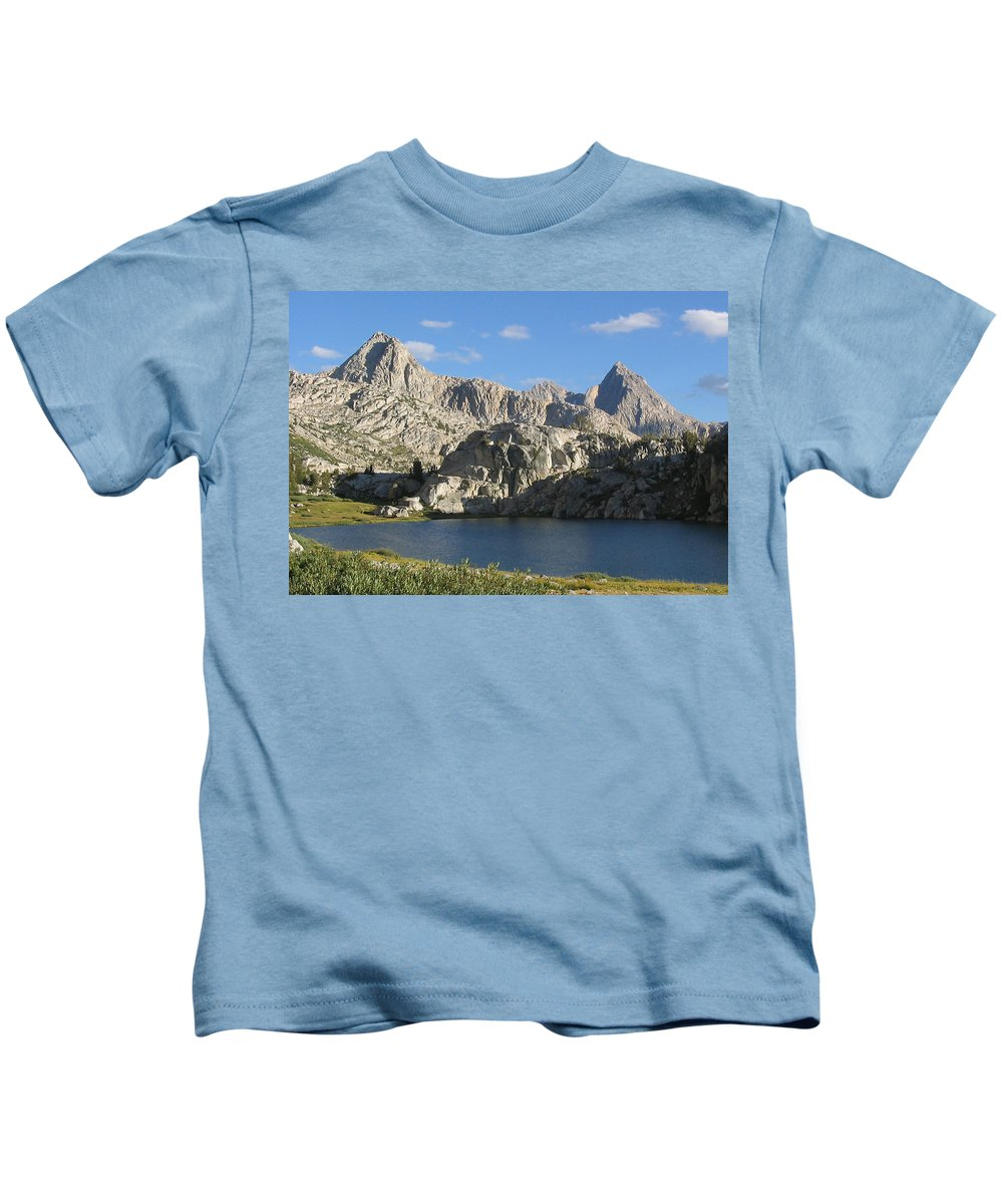 Kids T-Shirt featuring the painting Evolution Basin by Ramesh Narasimhan