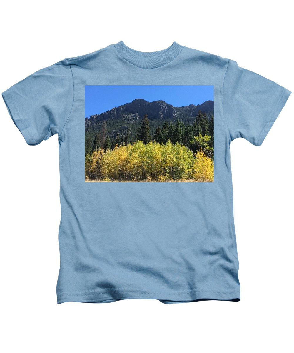 Landscape Kids T-Shirt featuring the photograph Fall at Twin Sisters by Kristen Anna
