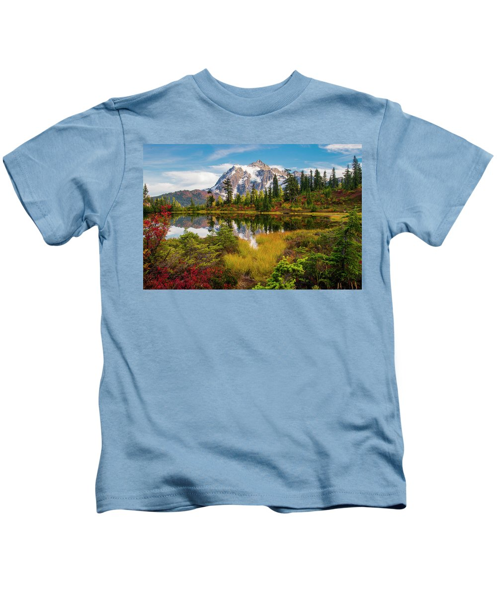Fall Kids T-Shirt featuring the photograph Fall Mountain View by Christopher Swafford