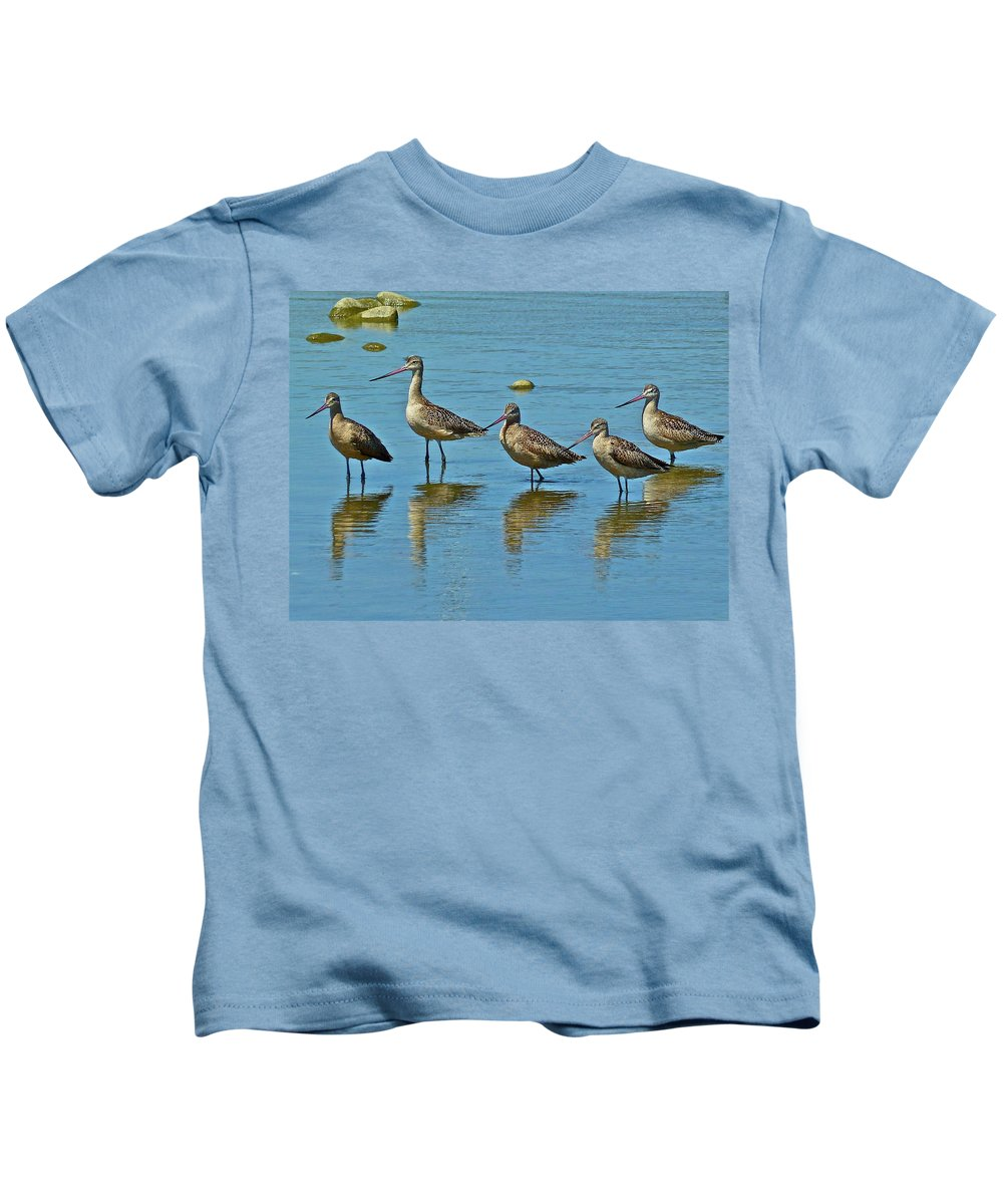Birds Kids T-Shirt featuring the photograph Family Photo by Diana Hatcher