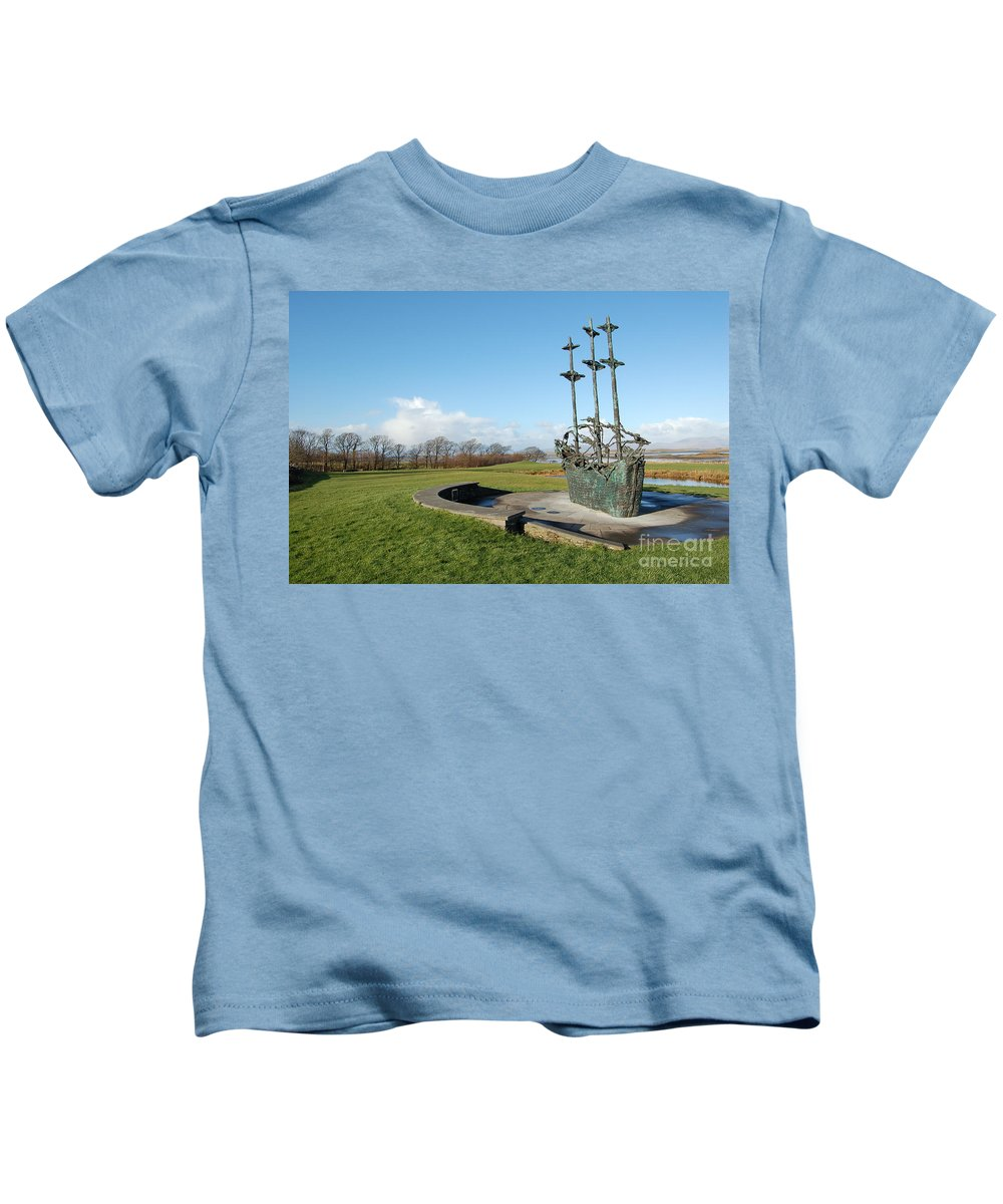 Great Famine Of Ireland Kids T-Shirt featuring the photograph Famine Ship by Paul Maher