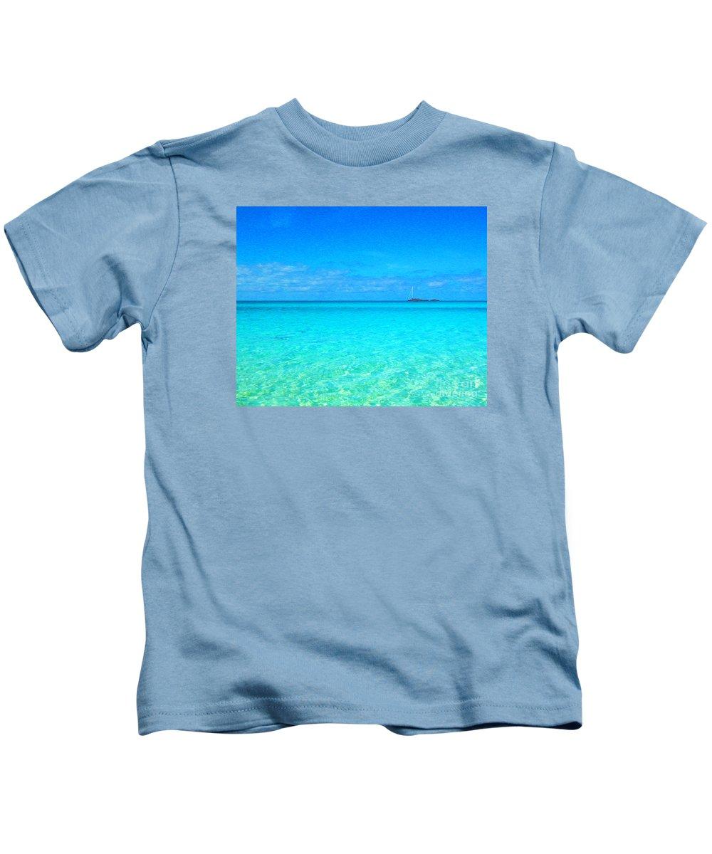 Kids T-Shirt featuring the digital art Fernandez Bay Calm by Joseph Re